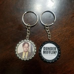 The Office Bottle Cap Keychains